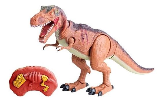 Dinossauro T-rex Robo Com Controle Remoto Robossauro Grande
