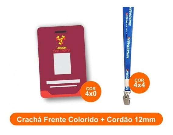 Kit Crachá + Cordão 15unid