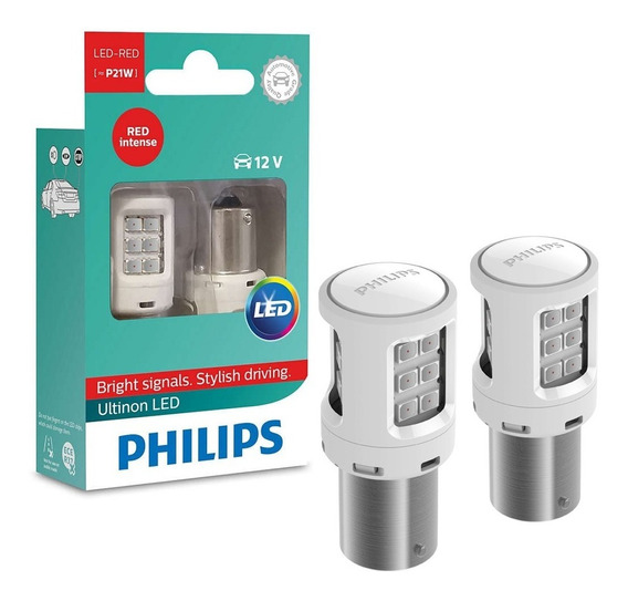 Par De Lâmpadas Automotiva Traseiras P21 Philips Lanterna