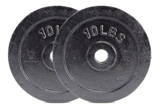 Disco Discos Pesas Mancuernas Calidad Gimnasio 10 Libras X 2