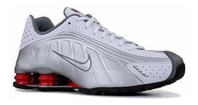 Mens R4 Zapatillas NuevasBlanco Roj Plateado Nike Shox DHYW2E9I