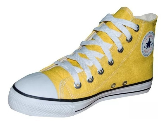 Tenis All Star Cano Alto Amarelo