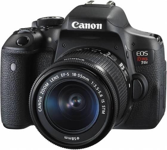 Câmera Canon Eos T6i 24.2mp + Lente 18-55mm + Bolsa