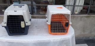 Jaula Transporte De Perros O Gatos Mediana Impec 60x40x40