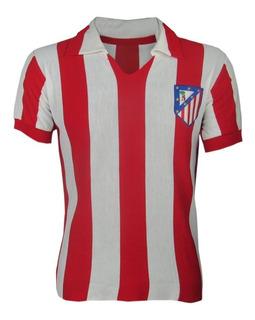 Camisa Retrô Atlético De Madrid Gola Polo