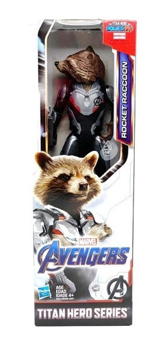 Novo Boneco Vingadores Ultimato Rocket Raccoon Hasbro