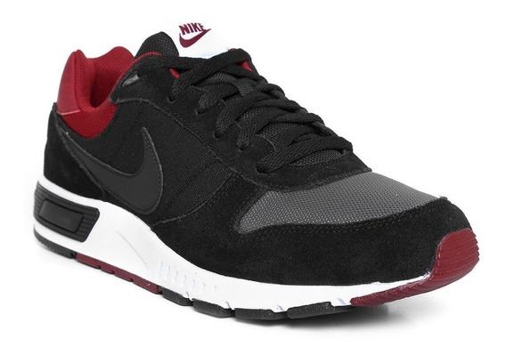 Tenis Casual Hombre Nike Nightgazaer Negro 022 100%original