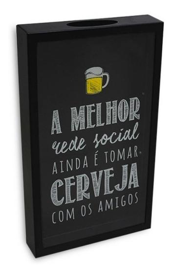 Quadro Porta Tampinhas De Cerveja Rede Social