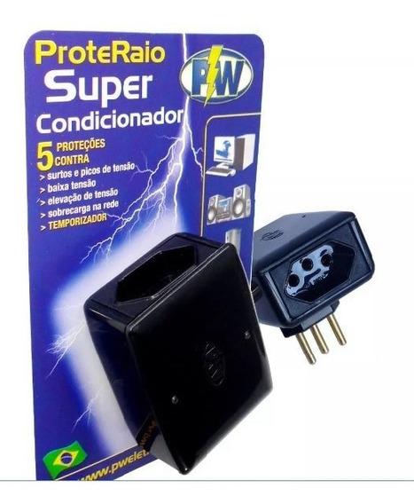 Protetor Raio Super Pw P/ Tv Pc Eletrônicos Com Temporizador