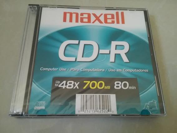 Cd Virgen Cd-r Maxell Original Con Estuche 48x 700 Mb 80 Min