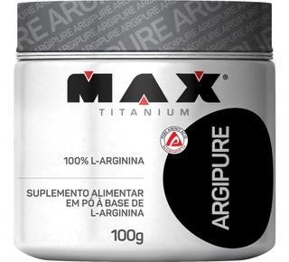 100% Arginina Argipure Pura - 100g - Max Titanium
