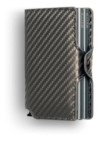 Billetera Walla - Carbono Silver Doble