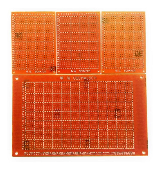 4x Placa De Fenolite Perfurada Universal 9x15cm 5x7cm Ilhada