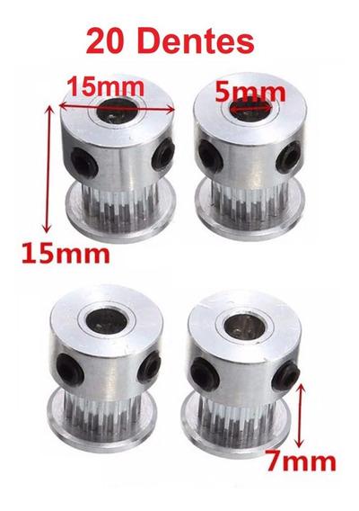 Kit 4 Polias 16 Dentes + 6 Metros Correia Gt2 6mm Passo 2mm