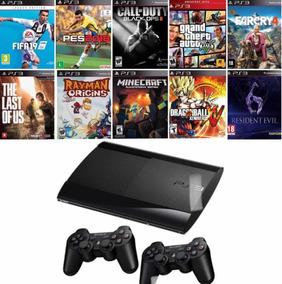 Playstation 3 Ps3 C/ 55 Jogos Frete Grátis 2 Controles Sony