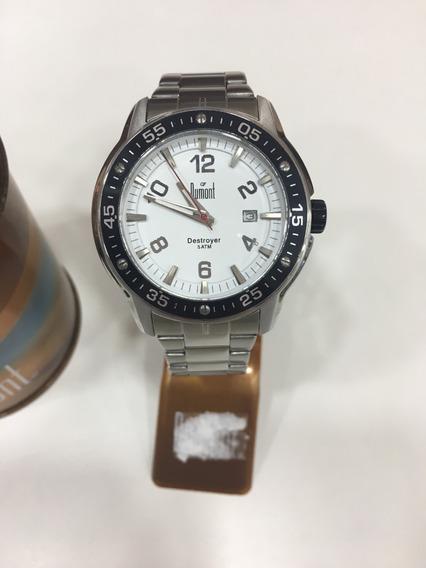 Relógio De Pulso Dumont Sc20158 Prata E Preto Masculino