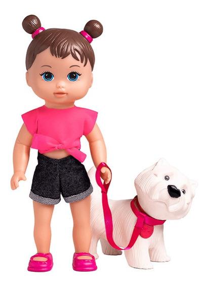 Boneca Lollypop E Cachorrinho Estimação Meu Pet Cão