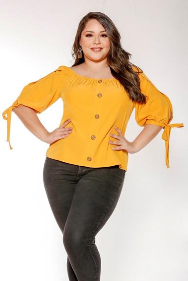 Blusa/camisa Bandeja Grande Elegante (amarillo)