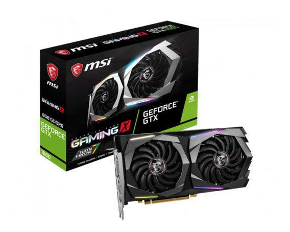Placa de video Nvidia MSI GeForce GTX 16 Series GTX 1660 GEFORCE GTX 1660 GAMING X 6G 6GB