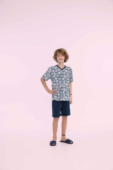 Pijama Masculino Infantil Algodão Nativa - Ref. 13150