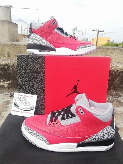 Jordan 3 Red Cement Talla 25 Mx (horma Adulto)
