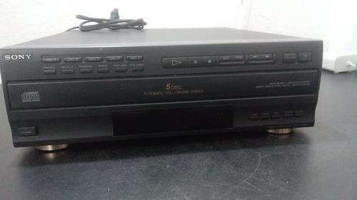 Toca Cd Sony Carrossel 5 Discos Cdp-c505m( No Estado )
