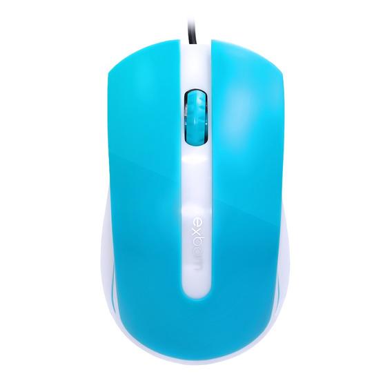 Mouse Usb 1000dpi Optical Azul Exbom Ms-50