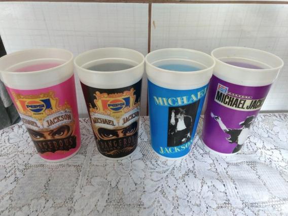 Copos Michael Jackson Pepsi - 4 Copos