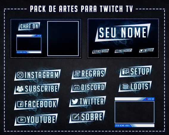 Pack De Arte Para Twitch Tv