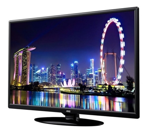 Tv Led E Monitor Pc Aoc 24 Polegadas Hdmi Conversor Digital
