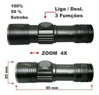 Lanterna Tática Mini Led Cree Q5 Recarregável Usb Xz-912