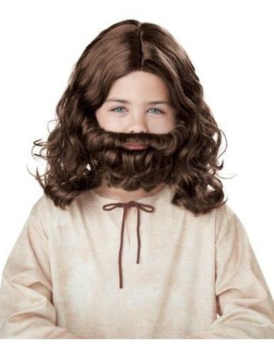 Peluca De Jesus Y Niño De La Barba