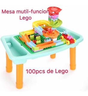 Mesa Mutifunccion Lego 100 Piezas Mesa De Juego 4 En Uno