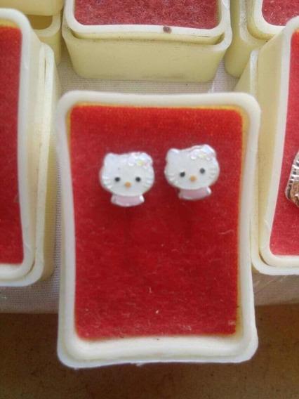 Arete Para Niña Accesorio Hello Kitty Plata