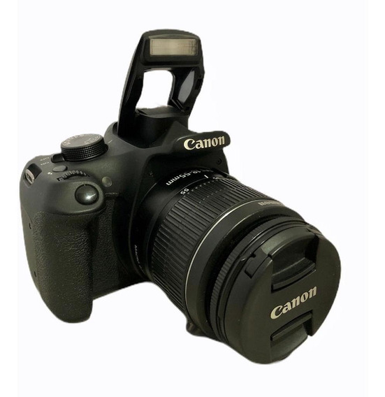 Câmera Semi Nova Canon T5+ Lente 1855 + Sd 64 Gb