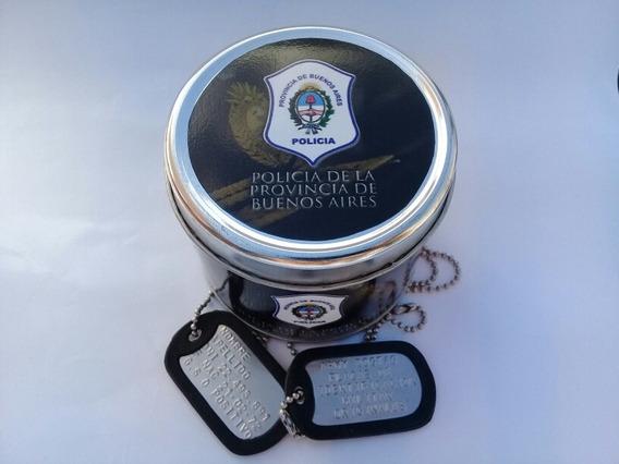 Chapas Militares Originales Dogtags Lata Policia Prov Bs As