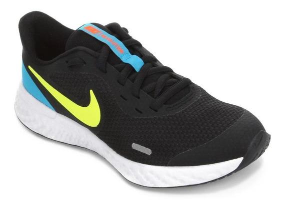 Tênis Running Nike Infantil Menino Revolution 5 Bq5671 Preto