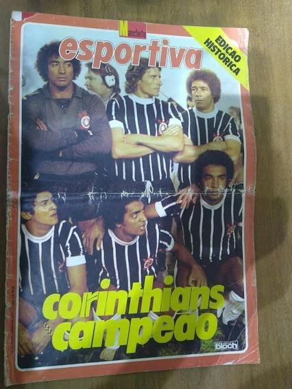 Rev Manchete Esportiva Corinthians Campeão 1977 Frete Grátis
