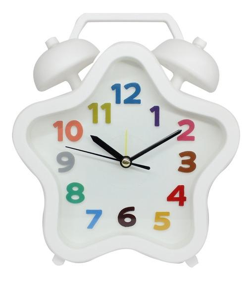 Reloj Despertador Buro Estrella Pila Incluida 19x15.5x4 Cm