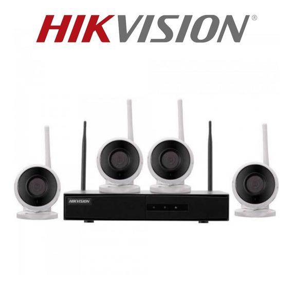 Kit Câmera Hikvision Sem Fio Wifi 04 Câmera Ip Nk4w0-1t