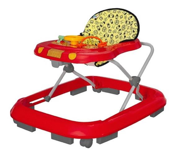 Andador Safari Vermelho (até 12 Kg) - Tutti Baby