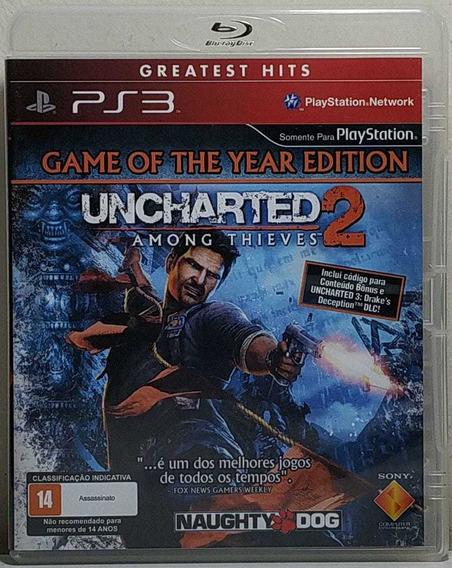 Jogo De Ps3 Uncharted 2 Greatest Hits Em Mídia Física