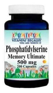 Phosphatidylserine Fosfatidilserina 500 Mg 200 Cap Vitamins