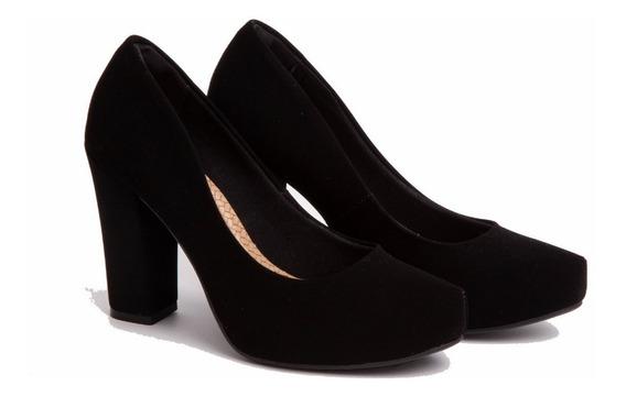 Zapatos Mujer Fiesta Negros Vía Marte 18-2354 Importados