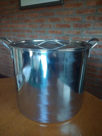 Olla Gastronómica De Acero Inox.19lts 30 Diámetro X26cm Alto