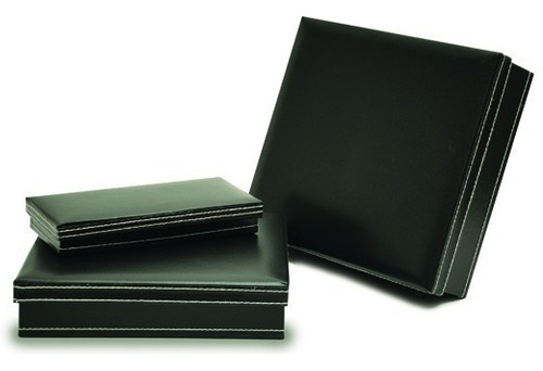 Caja De Regalo Simil Cuero X 10 Unid - 19 X 19 X 3 Cms