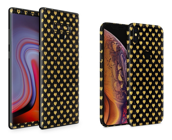 Skin Gold Hearts Apple Samsung Huawei Lg Sony Xiaomi Etc