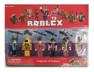 Roblox Tipo Lego 6 Muñecos Desarmables Y Accesorios
