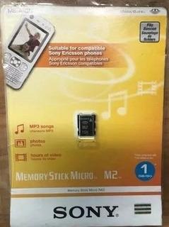 Cartão De Memória Memory Stick Micro M2 Sony 1gb