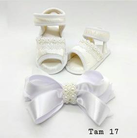 Sandalinha Customizado Com Faixa De Cabelo Tam 17